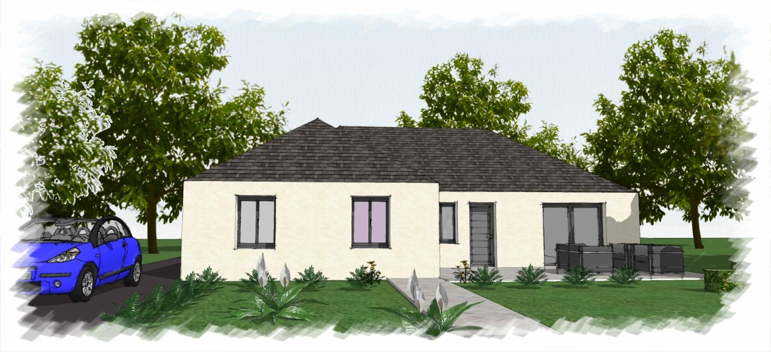 toury offre terrain maison chenes annonces. Black Bedroom Furniture Sets. Home Design Ideas